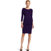 HALSTON HERITAGE Women's 3/4 Sleeve Dress Purple - Dresses - $146.97