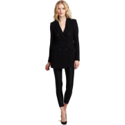 HALSTON HERITAGE Women's Double Breasted Jacket Black - Jacket - coats - $346.50