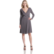 HALSTON HERITAGE Women's Front Drape Dress Slate - Dresses - $141.10