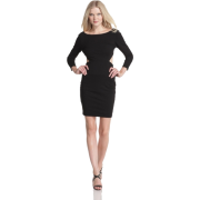 HALSTON HERITAGE Women's Long Sleeve Sweetheart Dress Black - Dresses - $107.24
