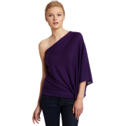 HALSTON HERITAGE Women's One Sleeve Top Purple - Top - $295.00