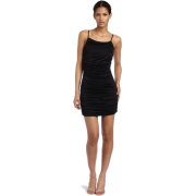 HALSTON HERITAGE Women's Shirred Spaghetti Strap Dress Black - Dresses - $126.99