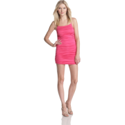 HALSTON HERITAGE Women's Shirred Spaghetti Strap Dress Ultra pink - Dresses - $126.99