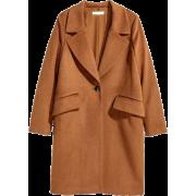 H&M classic brown coat - Jacken und Mäntel -
