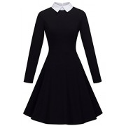 HOMEYEE Women's Doll Collar Wear to Work Swing A-Line Party Casual Dress A016 - Haljine - $25.00  ~ 158,81kn