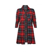HOT FROM HOLLYWOOD Women's Long Sleeve Oversized Boyfriend Fit Plaid Flannel Shirt - Рубашки - короткие - $22.99  ~ 19.75€