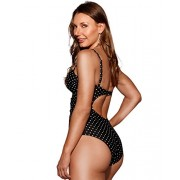 HOT FROM HOLLYWOOD Women's Twisted Open Back One Piece Swimsuit - Kostiumy kąpielowe - $37.99  ~ 32.63€