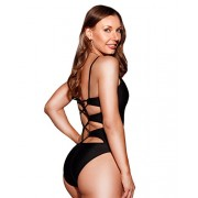 HOT FROM HOLLYWOOD Women's Twisted Open Back One Piece Swimsuit - Купальные костюмы - $36.99  ~ 31.77€