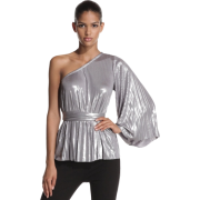 Halston Heritage Women's Pleated One Shoulder Top Sterling - Top - $139.91