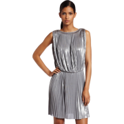 Halston Heritage Women's Pleated Sleeveless Dress Sterling - Dresses - $111.33