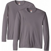 Hanes Men's Long Sleeve Cool Dri T-Shirt UPF 50+ (Pack of 2) - T-shirts - $13.34