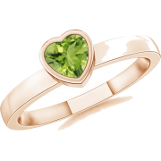 Heart Peridot Ring - Anelli - $319.00  ~ 273.98€