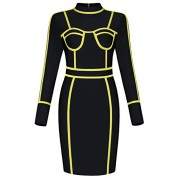 Hego Women's Black Long Sleeve Mini Bandage Dress Club Night Out for Special Occasion - Haljine - $139.00  ~ 119.39€