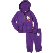 Hello Kitty Girls 2-6x Embroidery On French Terry Active Set Purple - Track suits - $24.46
