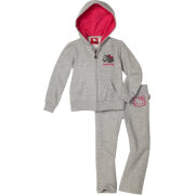 Hello Kitty Girls 2-6x Fleece Active Set with Mini Sequin Accents Heather Grey - Track suits - $21.99