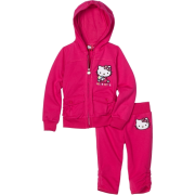 Hello Kitty Girls 2-6x French Terry Active Set with Embroidery Fuschia Purple - Track suits - $24.46