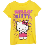 Hello Kitty Girls 2-6x Raining Hearts Graphic T-Shirt Aspen Gold - T-shirts - $11.99