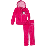 Hello Kitty Girls 2-6x Velour Active Set with Mini Sequins Fuschia Purple - Track suits - $19.99