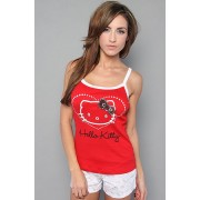 Hello Kitty Intimates The Shimmer n' Shine Sleep Set,Sleepwear for Women Red/White - T-shirts - $9.95