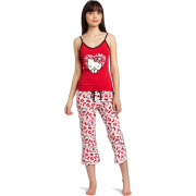 Hello Kitty Women's Hk Dreaming Of Love Pajama Pant Set With Printed Pant And Tank Top Red - Pajamas - $17.90