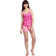 Hello Kitty Women's Hk Dreaming Of Love Pajama Short Set With Printed Tank Top And Shorts Pink - Pajamas - $18.90