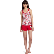 Hello Kitty Women's Hk Dreaming Of Love Pajama Short Set With Shorts And Printed Tank Top Red - Pajamas - $18.90