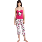 Hello Kitty Women's Hk Dreaming Of Love Two Piece Pajama Pant Set With Tank Top And Printed Pant Pink - Pajamas - $20.30