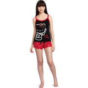 Hello Kitty Women's Hk Shimmer And Shine Pajama Short Set With Shorts And Tank Top Black - Top - $20.30