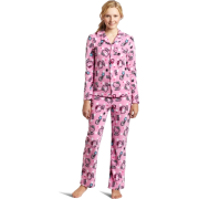 Hello Kitty Women's Print 2 Piece Notch Collar Top and Pant Pajama Set Light Pink - Pajamas - $29.40
