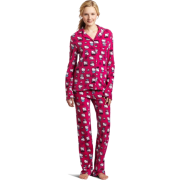 Hello Kitty Women's Print 2 Piece Notch Collar Top and Pant Pajama Set Pink - Pajamas - $29.40