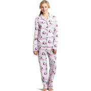 Hello Kitty Women's Print 2 Piece Notch Collar Top and Pant Pajama Set White - Pajamas - $29.40