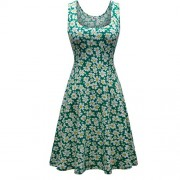 Herou Women Sleeveless Beach Casual Flared Floral Tank Dress - Dresses - $18.88