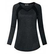 Hibelle Women's Long Sleeve Activewear Yoga Running Workout T-Shirt Tops - Shirts - $40.99
