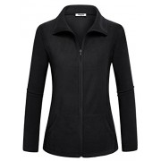 Hibelle Women's Outdoor Full-Zip Thermal Fleece Jacket With Pockets - Outerwear - $49.99