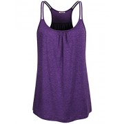 Hibelle Womens Scoop Neck Cute Racerback Yoga Workout Tank Top - Shirts - $45.99