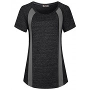 Hibelle Women's Short Sleeve Yoga Running Workout Gym T-Shirt Tops - Shirts - $45.99