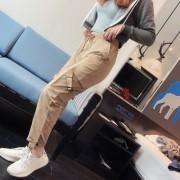 High Waist Fashion Pocket Casual Pants Fashion Cargo Pants - 牛仔裤 - $27.99  ~ ¥187.54