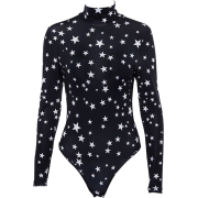 High collar five-pointed star pattern ju - Overall - $25.99
