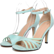 High heel open toe mint green sandal - Sandale -