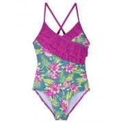 Hilor Girl's One Piece Bikini Swimwear Ruffle Swimsuits Cross Back Bathing Suits for Kid - Swimsuit - $11.99