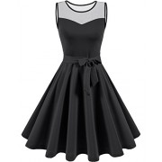 Homrain Womens Dresses Party Dresses 1950s Vintage Sleeveless Rockabilly Swing Dress - Dresses - $15.99