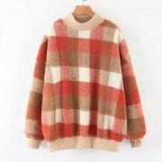 Hooded loose contrast color round neck p - Jakne i kaputi - $39.99  ~ 254,04kn