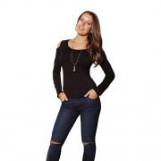 Hot From Hollywood Women's Long Sleeve Casual Fitted Tunic Top - Рубашки - короткие - $19.99  ~ 17.17€