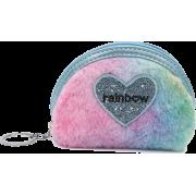 Hot Sale Colorful Heart-shaped Plush Mini Wallet Ladies Storage Coin Purse Whole - 女士无带提包 -