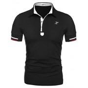 Hotouch Mens Fashion Polo Shirt Short Sleeve Polo Tee Casual Slim Fit Basic Golf Tee Sport Polo T-Shirts - Shirts - $13.99