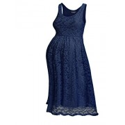 Hotouch Women's Maternity Knee Length Sleeveless Sexy Lace Dress - Dresses - $14.99