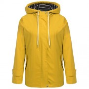 Hount Women Lightweight Waterproof Hooded Raincoat Jacket Solid Jacket Poncho - Outerwear - $31.99