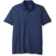 Hugo Boss Boss Orange Men's Short Sleeve Mouline Stripe Cotton Blend Polo - Shirts - $125.00