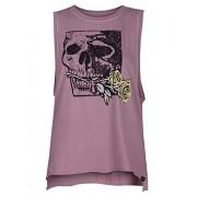 Hurley AA4578 Women's Yaiya Skull Rose Biker Shirt - Shirts - $31.95
