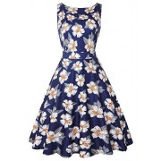 IHOT Women Vintage Boatneck Sleeveless Party Picnic Party Cocktail Dress - Dresses - $59.99